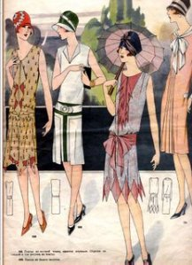 Cartoon Image of 1920s women's fashion