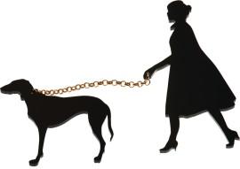 Lady & Dog Brooch from Tatty dEVINE