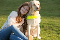 Image of Emily and her guide dog Unity