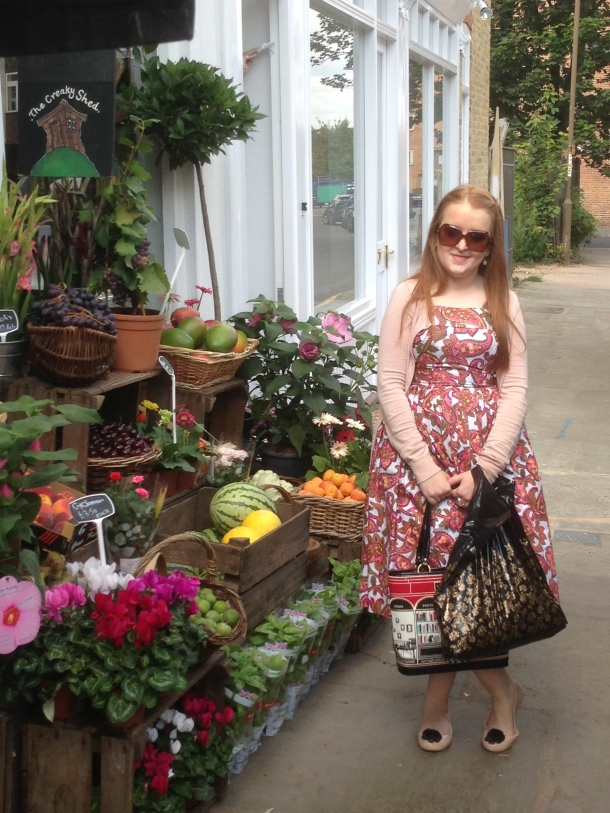Longshot of myself standing next to a Florists in Greenwich