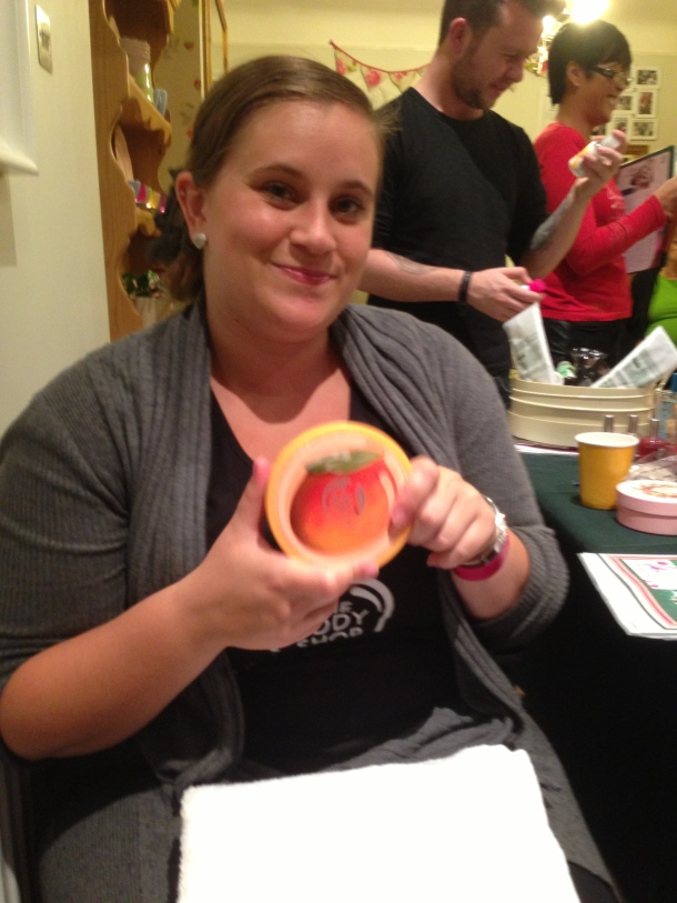 An image of Rachel sharing some of her Body Shop favourites