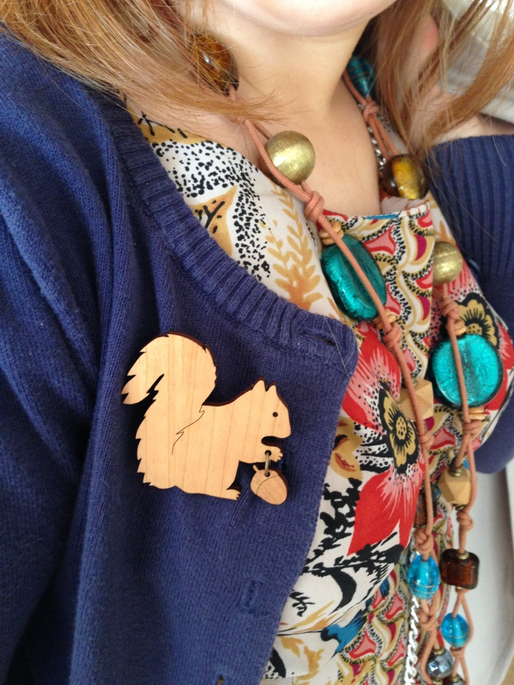 Image of Lady Muck Squirrel Brooch
