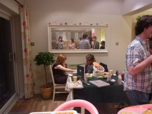 Emily Davison (me) enjoying a hand massage using the cocoa body butter