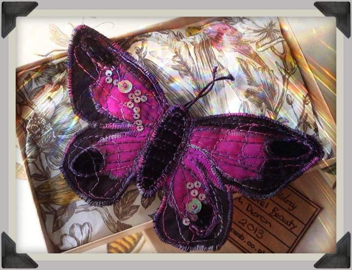 Image of the Heather Everitt Midnight Butterfly Brooch