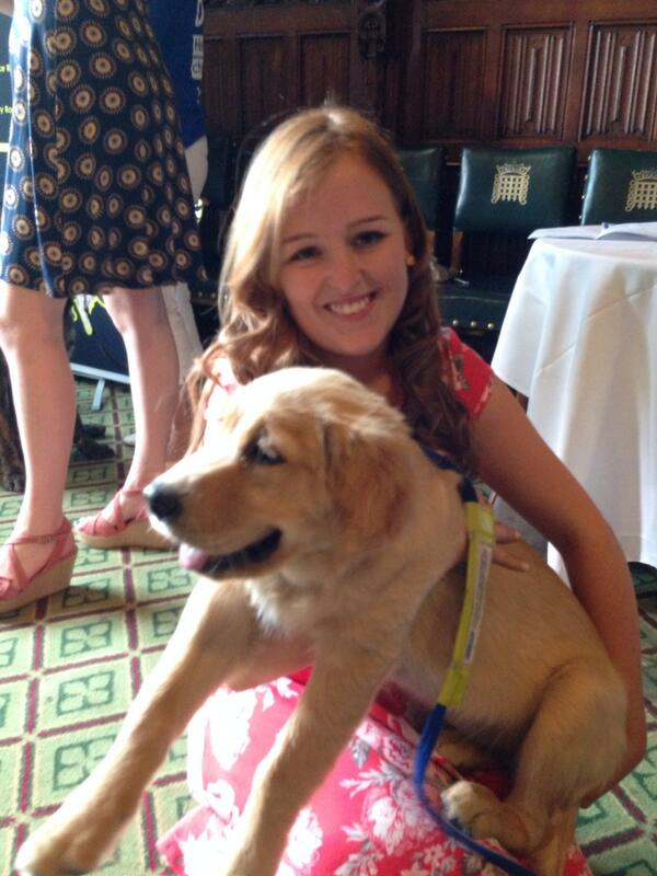 Me and Guide Dog Puppy Bobbie