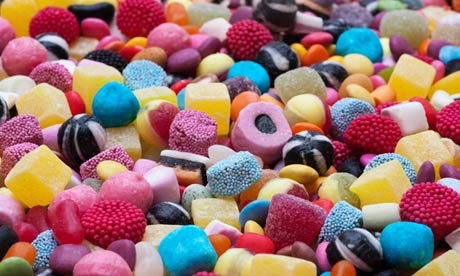 Colourful assorted childrens sweets and candy