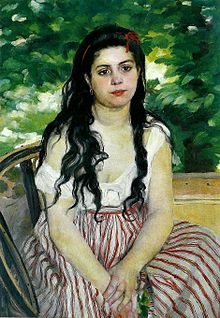 A painting of a Bohemian girl