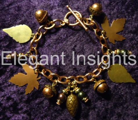 Scattered-Leaves-charm-bracelet
