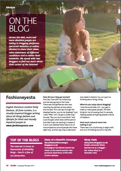 Fashioneyesta in EnableMagazine