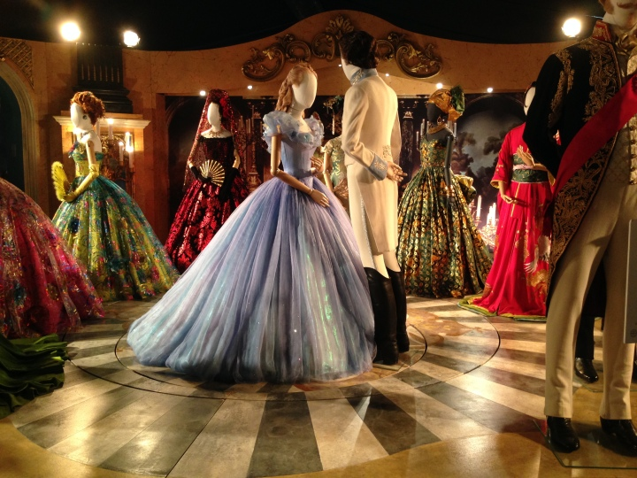 Side image of Cinderella's dress