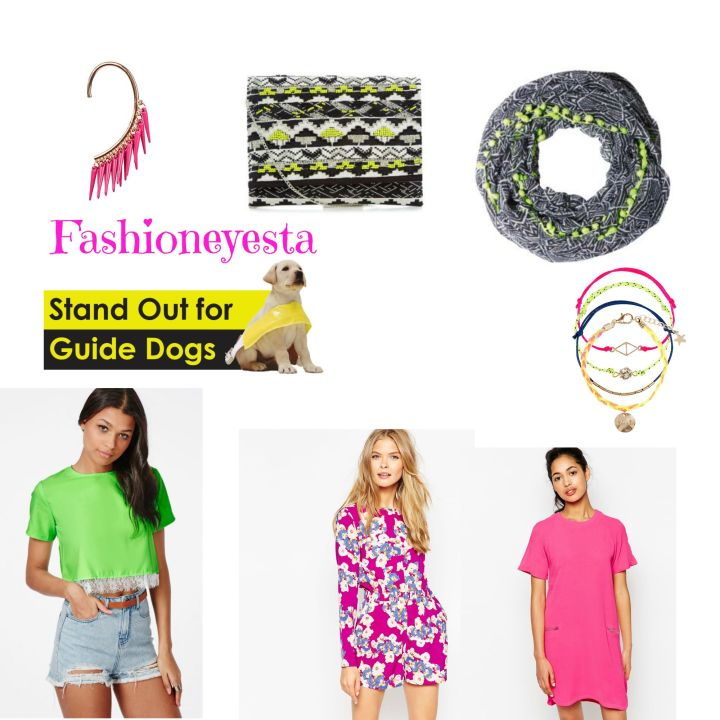 Fashioneyesta's Guide To Dressing Neon For Guide Dogs Week #LetsGlow #GuideDogsWeek