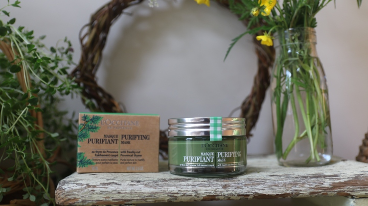An image of the Purifying Face Mask on a rustic table.